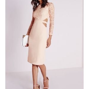 Missguided Clemenca Lace Long Sleeve Dress